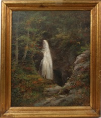 waterfall landscape by george frank higgins