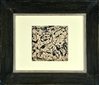 study for black and white by jackson pollock