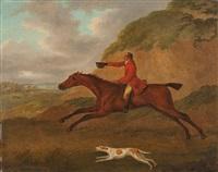 fuchsjagd mit reiter und hund by john nost sartorius