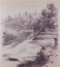 the ausable river, near keensville, new york by thomas addison richards