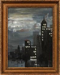nocturne new york cityscape by aaron douglas