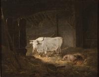 stall mit kuh und schweinen by george morland