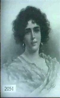venetian girl with earrings by romolo tessari