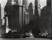 skyscrapers in lower manhattan, new york by andreas feininger