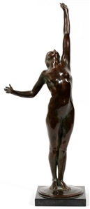 harriet whitney frishmuth us 1880 1980 bronze sculpture dated 1918 h 19 12 w 7 the star