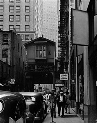 n.y. - 9th ave elevated, rector st by andreas feininger