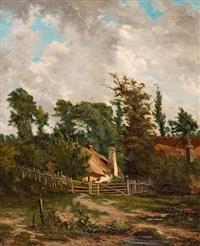 la chaumière dans les arbres by georges pierre louis serrier