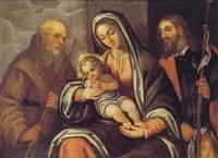 madonna con bambino e s. giovannino by italian school-ferrara (17)