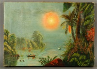 tropical scene by thomas chambers