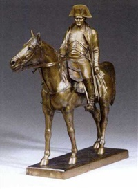 napoleon on horseback by louis marie moris