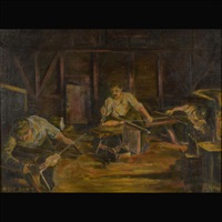 the night shift. tiffany favrile glassworkers by l.h. nash