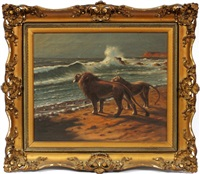 lions at the sea by astley david middleton cooper