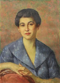 portrait of the artist's wife by mischa askenazy