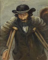 der invalide mit krücken by vassilij filippovich levi