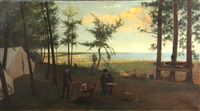campsite by a lake by franklin c. courter