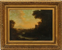 river landscape with figure by patrick nasmyth