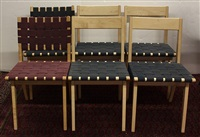 dining chairs (6 works) by jens risom
