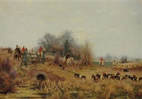 a run through burnham beeches (+ bucks and fox hunt at taplow, bucks; 2 works) by sidney pike
