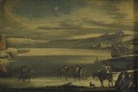 vinterlandskap med ryttare by jan abrahamsz beerstraten