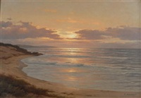 sonnenuntergang an meeresküste by carl kenzler