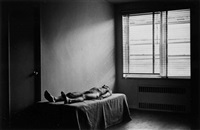 the spirit leaves the body, sequenz (7 works, mntd and framed together) by duane michals
