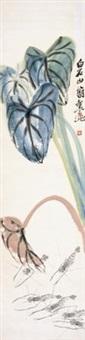 河虾图 by qi baishi
