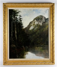 eagle cliff and profile lake, franconia notch nh by william h. hillard