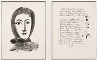 pl.1 (from vingt poems by luis de gongora y argote) (sold with 213b; set of 2) by pablo picasso