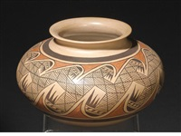 a hopi polychrome jar by fannie nampeyo