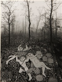 untitled (forest carpet) by jerry uelsmann