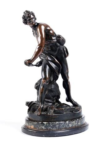 figur des jugendlichen david mit der steinschleuder by gian lorenzo bernini