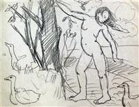 landscape (study) (8 works) by liubov popova