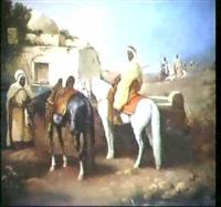 arabische krieger bei der rast by h. ales