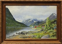 norwegian landscapes (2 works) by ernst aschenbach