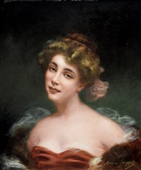 portrait of an actress by maurice jacquet