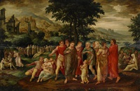 biblisk scen by frans floris the elder