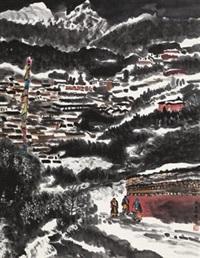 正月的雪 (landscape) by li xiaoke