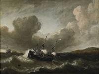 marin med segelfartyg by simon johannes van douw