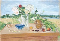 flowers and fruit by jane freilicher
