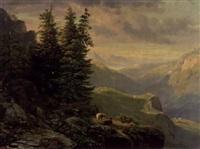landschaft im berner oberland by heinrich fischer