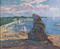 coastal landscape by wu zuoren