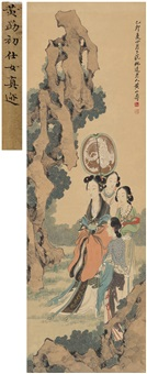 仕女图 (maiden) by huang shanshou