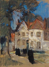 untitled - nuns on the street by leonard richmond