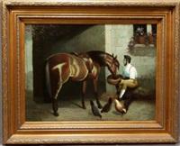 feeding his horse by lucas tesoriero