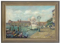 santa maria della salute from accross the grand canal, venice by john ambrose
