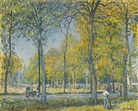 le parc by alfred sisley