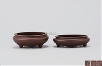 花盆 (一对) (flowerpots) (set of 2) by pei shimin
