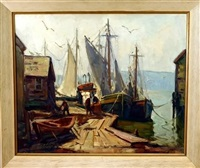 harbor scene by maria veronica liszt