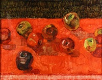 untitled (apples on a table) by john asaro
