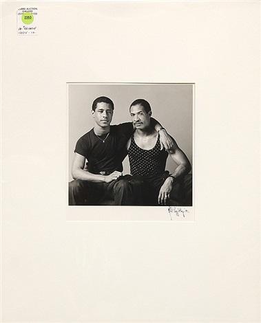 portrait of two men by robert mapplethorpe